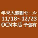 【OCNモバイルONE】11月本店早めの年末大感謝セール 11/18~12/23