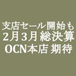 【OCNモバイルONE】本店2月3月セールが本命予想 1月支店セール開始も