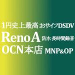 正味1円 OPPO Reno A おサイフDSDV【OCNモバイルONE】積算紹介 ~9/3