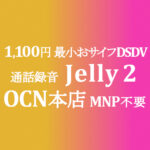 Jelly 2 MNP不要の特価 1,100円 最小DSDVおサイフ【OCNモバイルONE】積算紹介 本店 10月第一弾セール 10/8~25